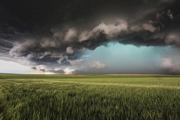 carta da parati della tempesta supercell