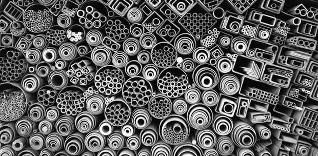barre di ferro carta da parati modello strano