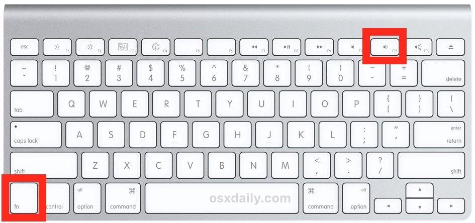 Scorciatoia da tastiera per mostrare il desktop su Mac con funzione F11