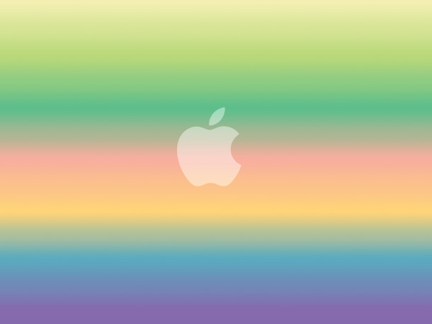 rainbow-apple-logo-carta da parati