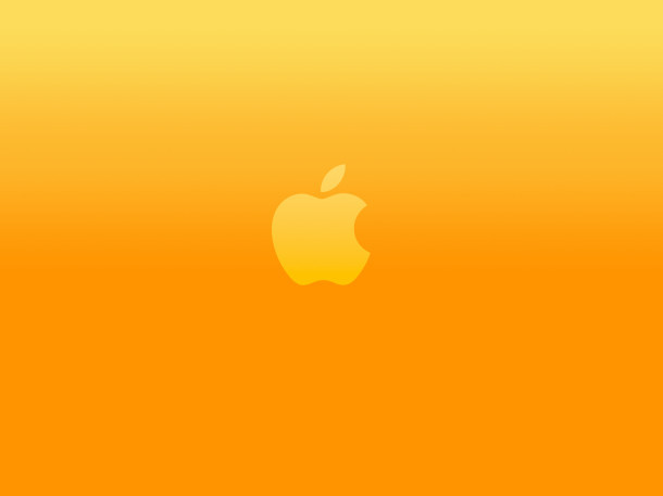 luminoso-arancione-apple-logo