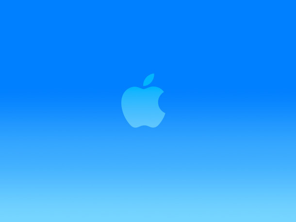 bright-blue-apple-logo-carta da parati