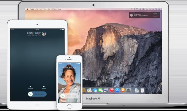 Continuità Yosemite iOS 8 e OS X.