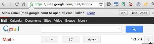 Gmail come client di posta elettronica predefinito