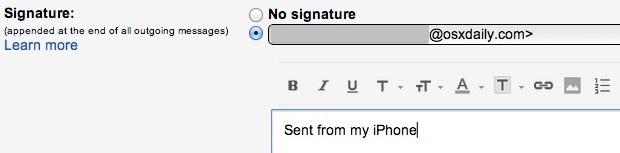 Crea una firma Gmail