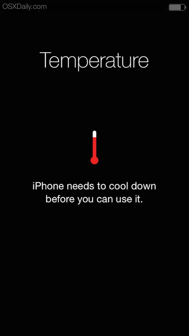 Avviso temperatura iPhone