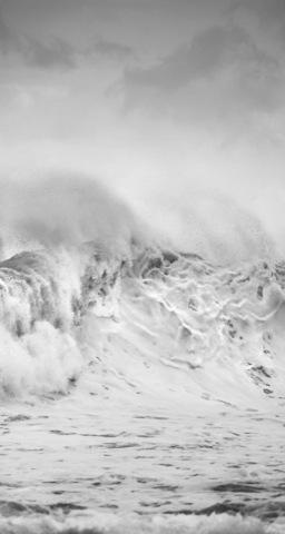 rottura d'onda in bianco e nero