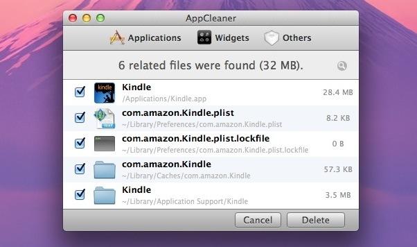AppCleaner elimina le applicazioni residuali