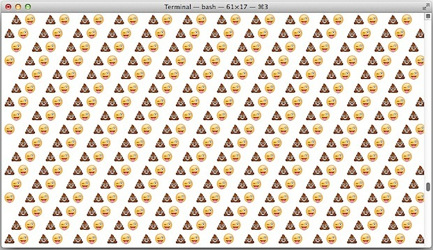 Smiling Piles of Poo scrolling sullo schermo