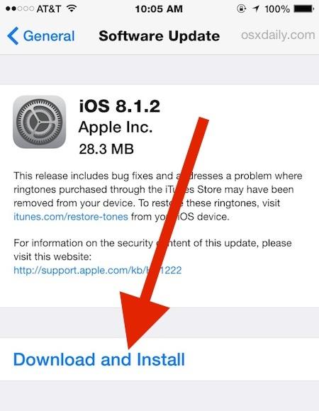 Scarica e installa gli aggiornamenti iOS