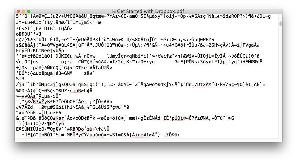 L'apertura del file PDF come Word DOC non ha senso