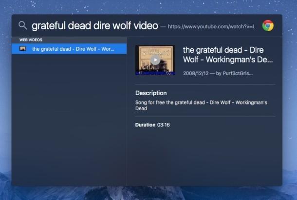 Trucco per Mac Spotlight per i video sul web