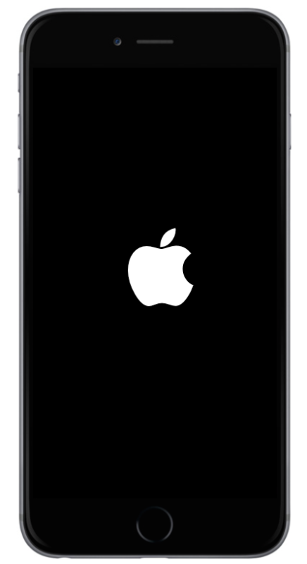 Un riavvio di iPhone
