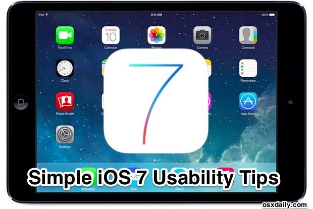 Suggerimenti per l'usabilità di iOS 7
