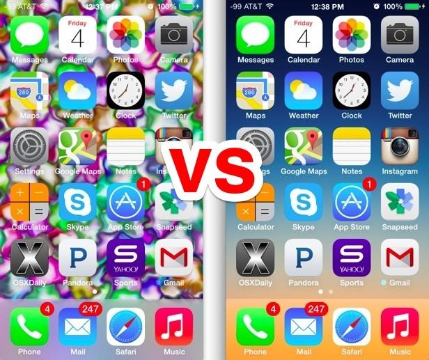 Lo sfondo è importante in iOS 7