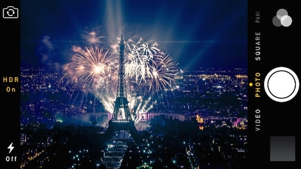 Usa la fotocamera di iPhone per scattare foto di fuochi d'artificio