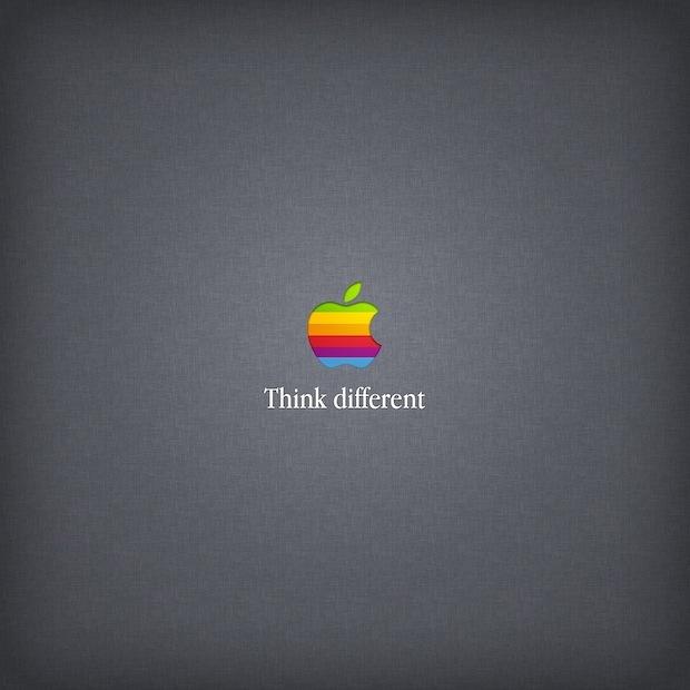 Think Different, retro rainbow wallpaper di Apple