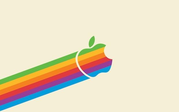 Volare arcobaleno classico Apple, leggero
