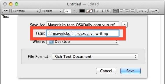 Aggiungi tag durante il salvataggio dei documenti per facilitare l'ordinamento e trovarli in un secondo momento