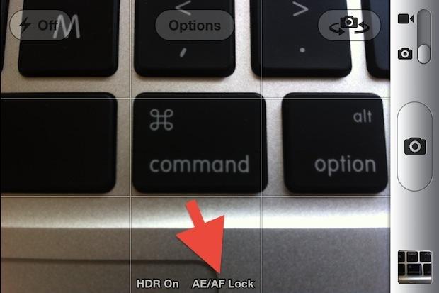 Blocca la messa a fuoco sulla fotocamera di iPhone