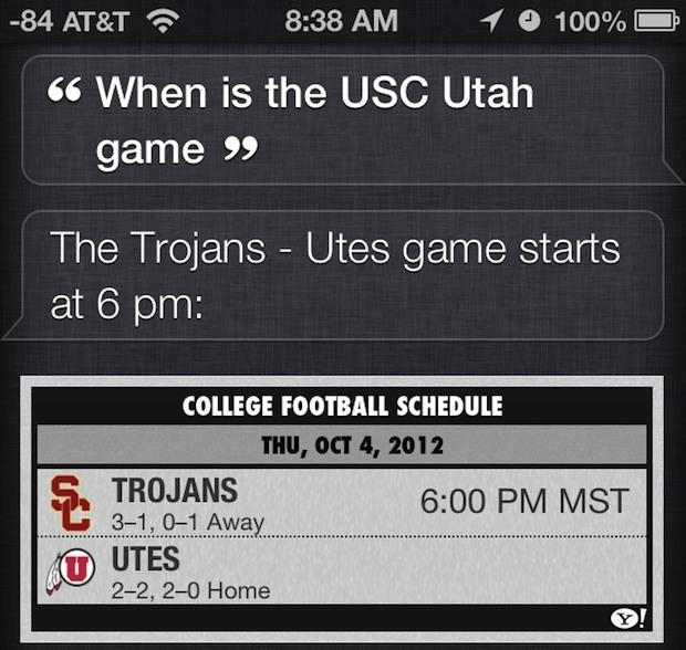 Controlla gli orari sportivi, i punteggi e altro con Siri