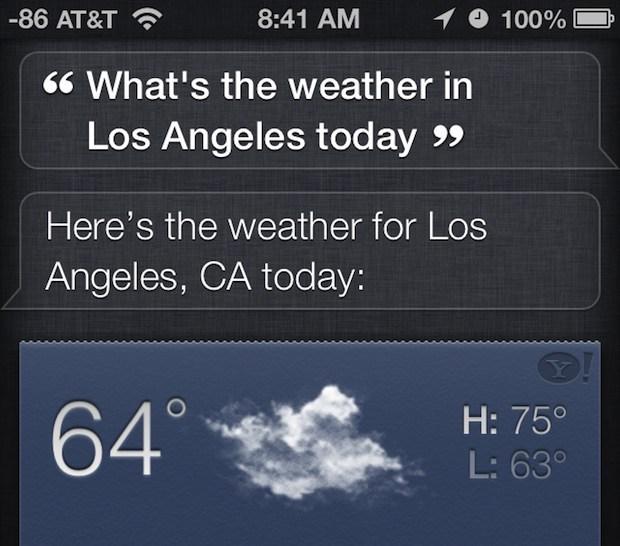 Ottieni il tempo con Siri