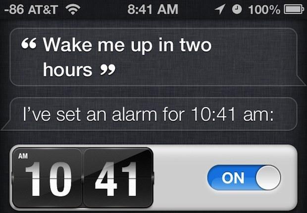 Imposta un allarme con Siri