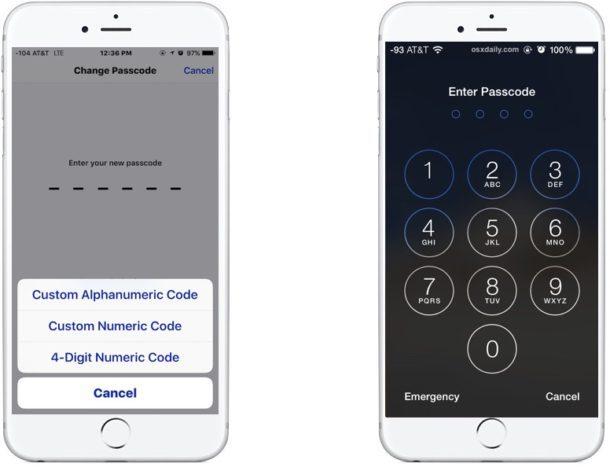 Passcode su iPhone