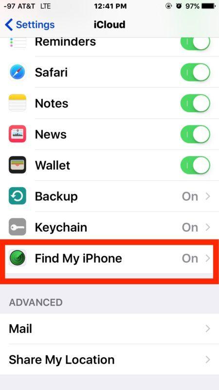Usa Trova il mio Iphone