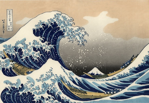 La grande ondata di sfondi Kanagawa