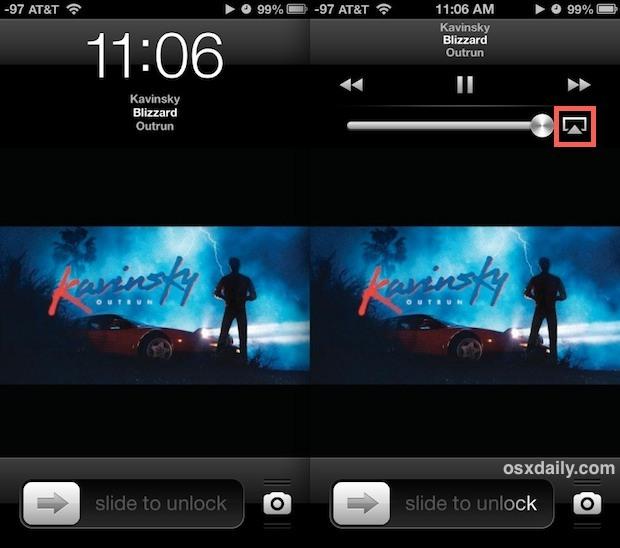 Blocca i controlli AirPlay su iPhone