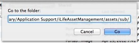 Vai alla cartella IOS Photo Stream in OS X