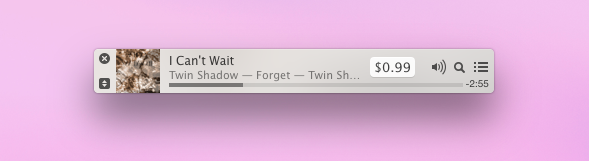 Mini player di iTunes