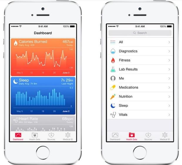 App di salute in iOS 8