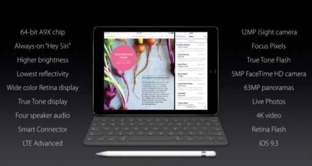 Scheda tecnica iPad Pro Medium