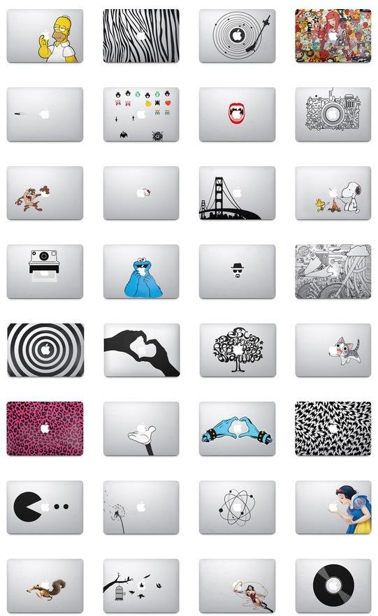 Adesivi su MacBook