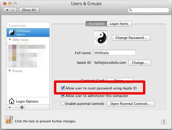 Imposta un ID Apple e collegalo a un account Mac