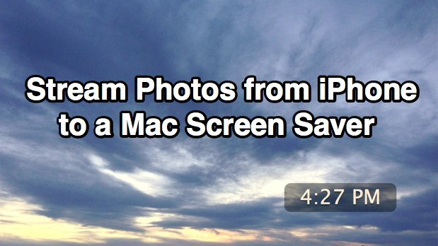 Scambia automaticamente le foto da iPhone a uno screen saver Mac