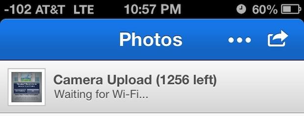 Backup di foto da iPhone a stato Dropbox