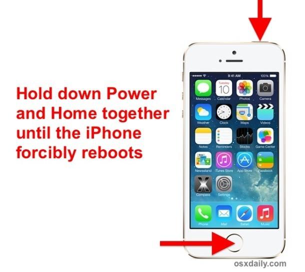 Forza il riavvio di un iPhone