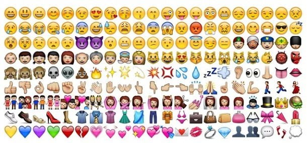Il pannello dei caratteri Emoji