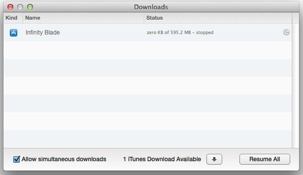 Interrompi un download in iTunes