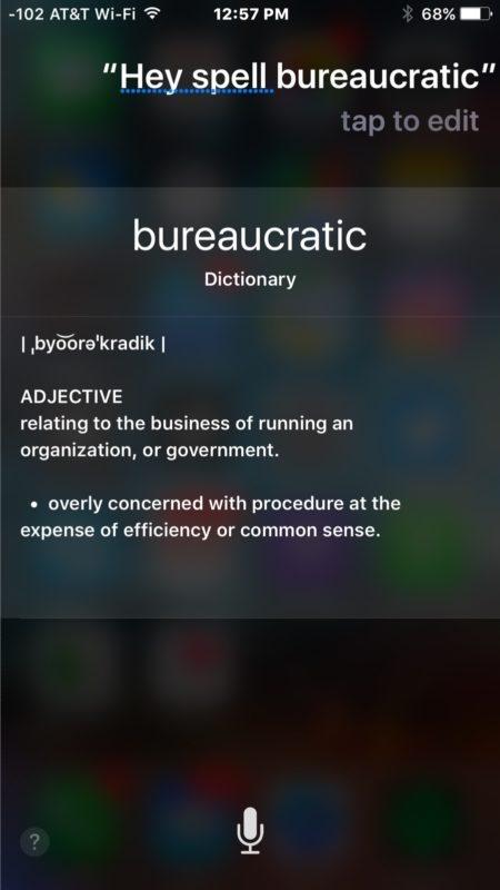 Parole di ortografia con Siri su iphone