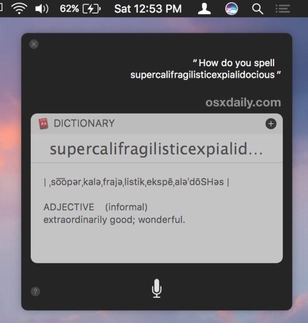 Fai pronunciare a Siri parole per te