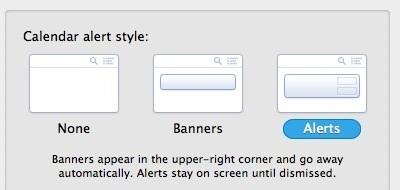 Banner e avvisi nel centro di notifica di OS X