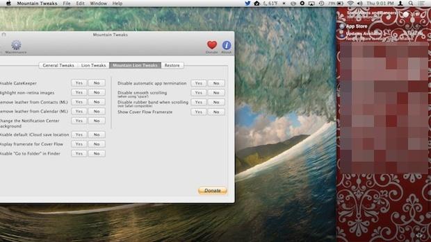 Immagine di sfondo del Centro di notifica personalizzato