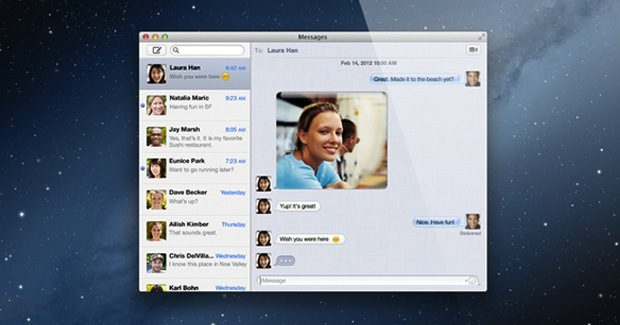 iMessage per Mac