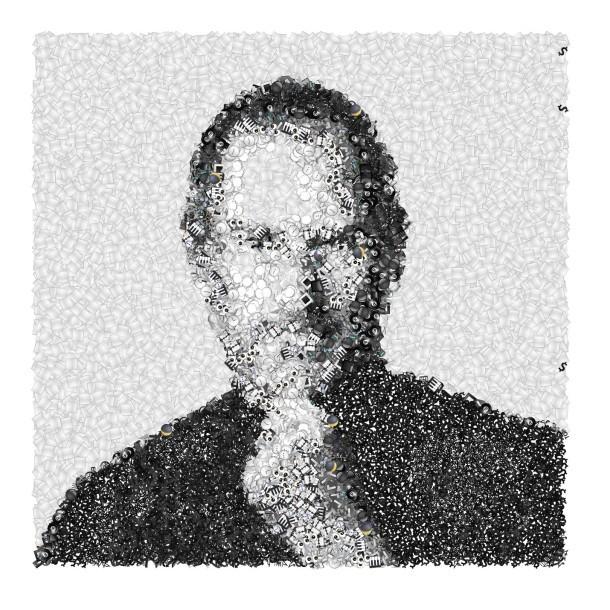 Ritratto di Steve Jobs realizzato da Emoji