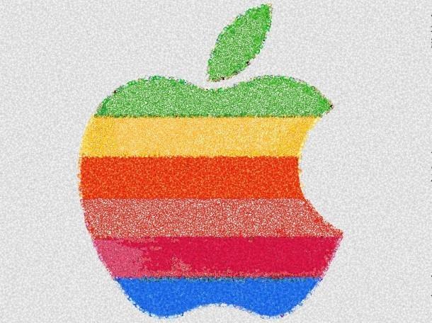Retro logo Apple Emoji