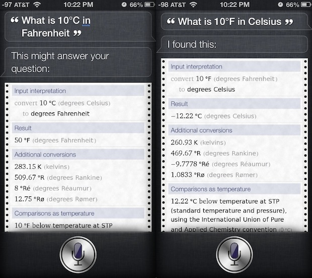 Converti le temperature su iPhone